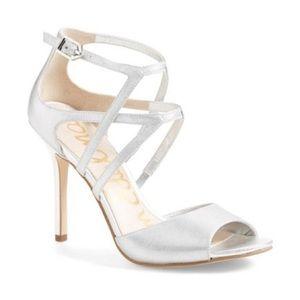 Sam Edelman   Earyn platinum silver heels